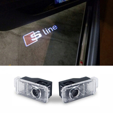 Laser Projector door courtesy car Light LED car Logo for Audi A3 A4 B5 B6 B7 B8 A6 C6 Q5 Q7 TT A4L A5 A8 A1 A8L A6L Q3 R8