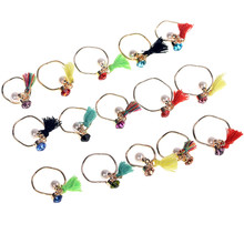 Fashion Gold-Color Jewelry Simulated Pearl & Tassels Ring Personalized Alloy Finger Rings For Women 5pcs/lot Wholesale