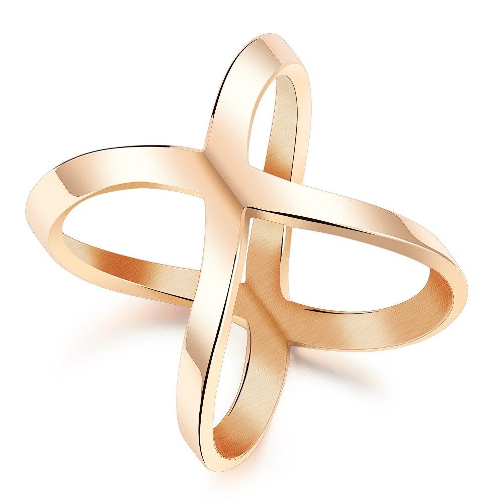 Розовое золото Покрытие Titanium стали Пластиковые Девушка кольцо ювелирных аксессуары оптом