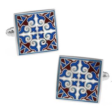 f3314fc09a2 Preço de fábrica de Varejo Clássico Esmalte Homens Presentes Material  Quadrado Azul Escultura de Cobre ligações de Punho Abotoaduras de Design  Frete Grátis