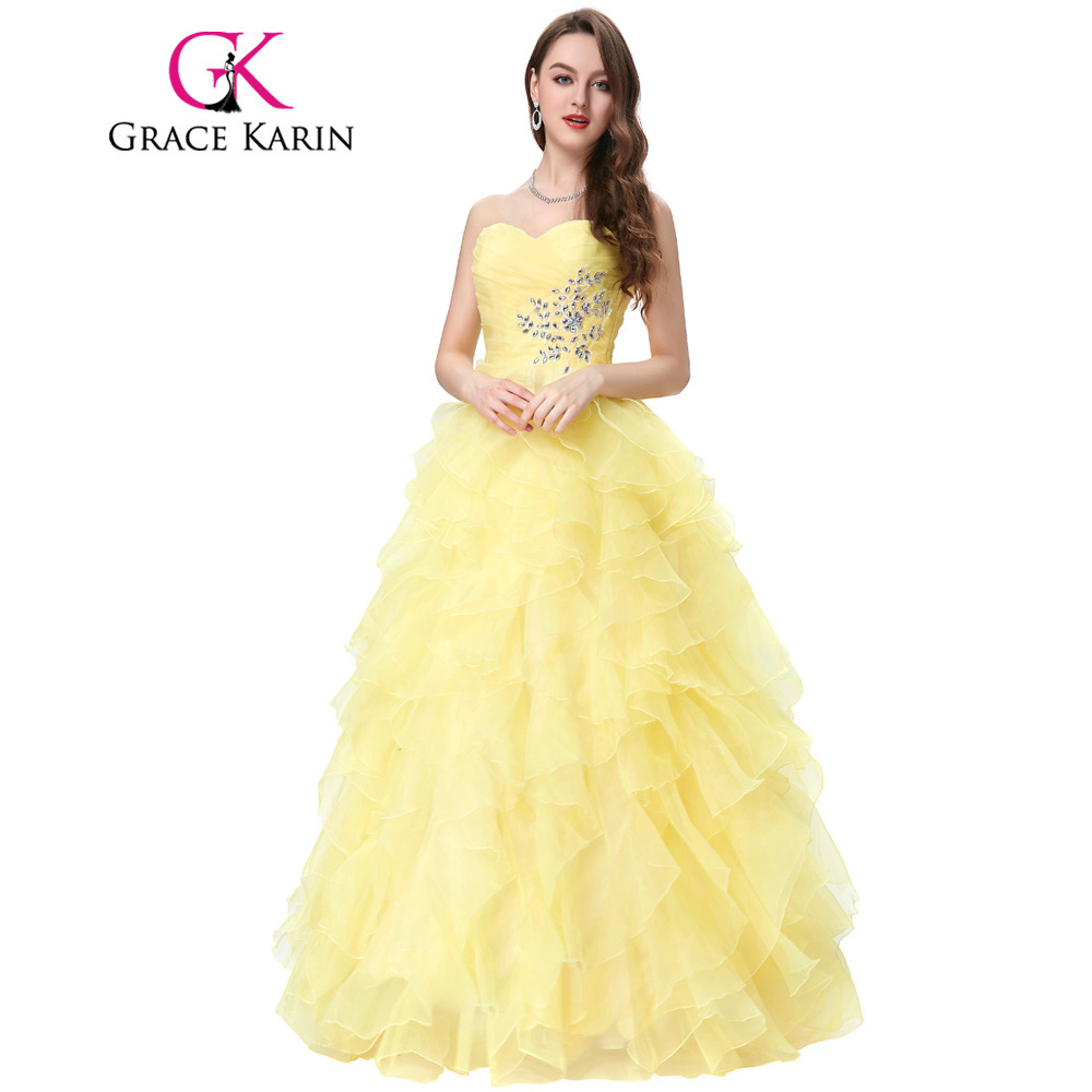 Red Blue Quinceanera Dress 2018 Grace Karin Strapless Formal ...