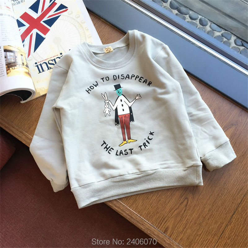 For Boys Girls Clothes T-Shirts Sweater Autumn Winter New style Baby Kids Magician Printing Tees Tops Children Clothing Cotton 3