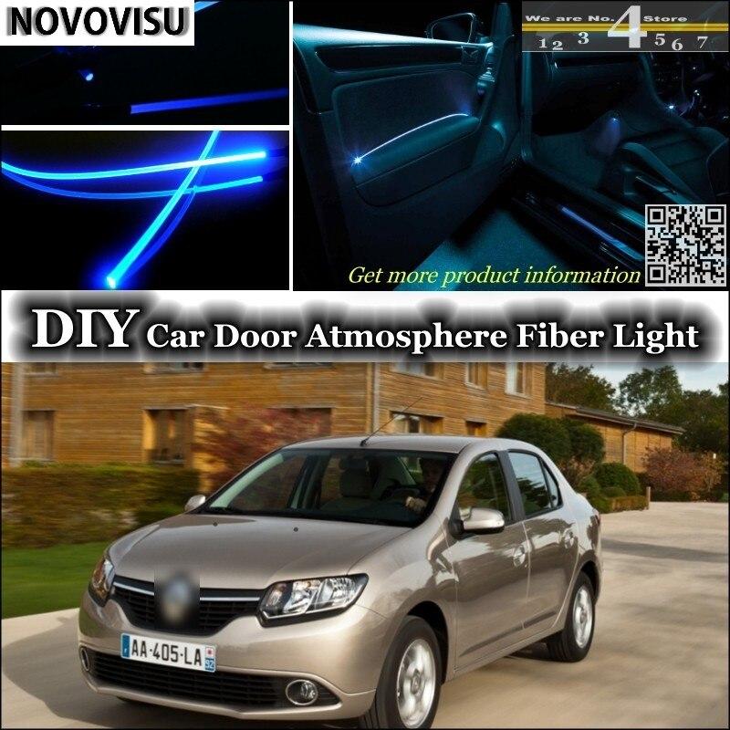 NOVOVISU para Renault Symbol/Thalia/Citius luz de ambiente interior Tuning atmósfera banda de fibra óptica luces dentro del Panel de la puerta