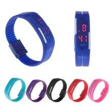 лучшая цена Multifunction LED Sports Electronic Digital Wrist Watch For Child Boy Girl Kids