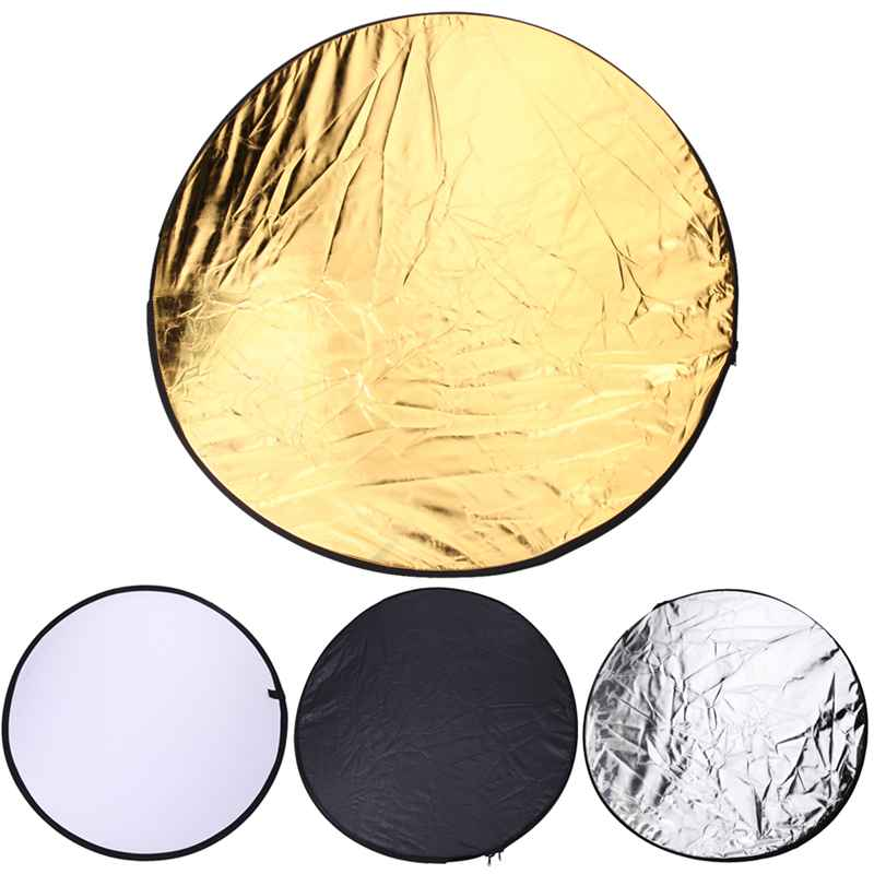 NEW 80cm 5 in 1 Photography Studio Light Mulit Photo Disc Collapsible Light Reflector Round Disk