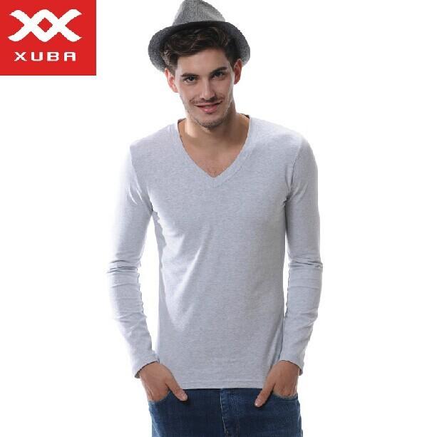 Freeshippingnew 100% algodón de hombre de manga larga camisa de algodón superior largo Johns ropa interior térmica que basa la camisa 6 colores sml XL