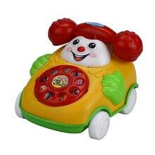 Новые образовательные игрушки мультфильм улыбка телефон автомобиль развивающая детская игрушка подарок случайный цвет и стиль