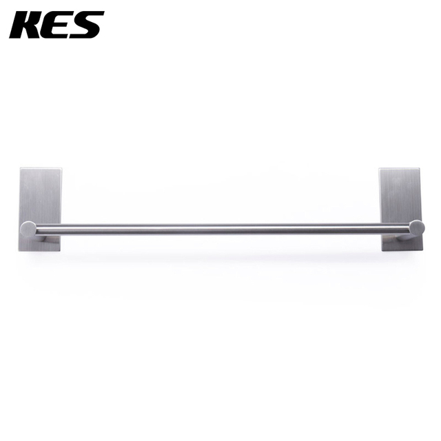 Kes A7000b Bathroom Lavatory 3m Self Adhesive Single Towel Bar 21 7 Inch Brushed Stainless