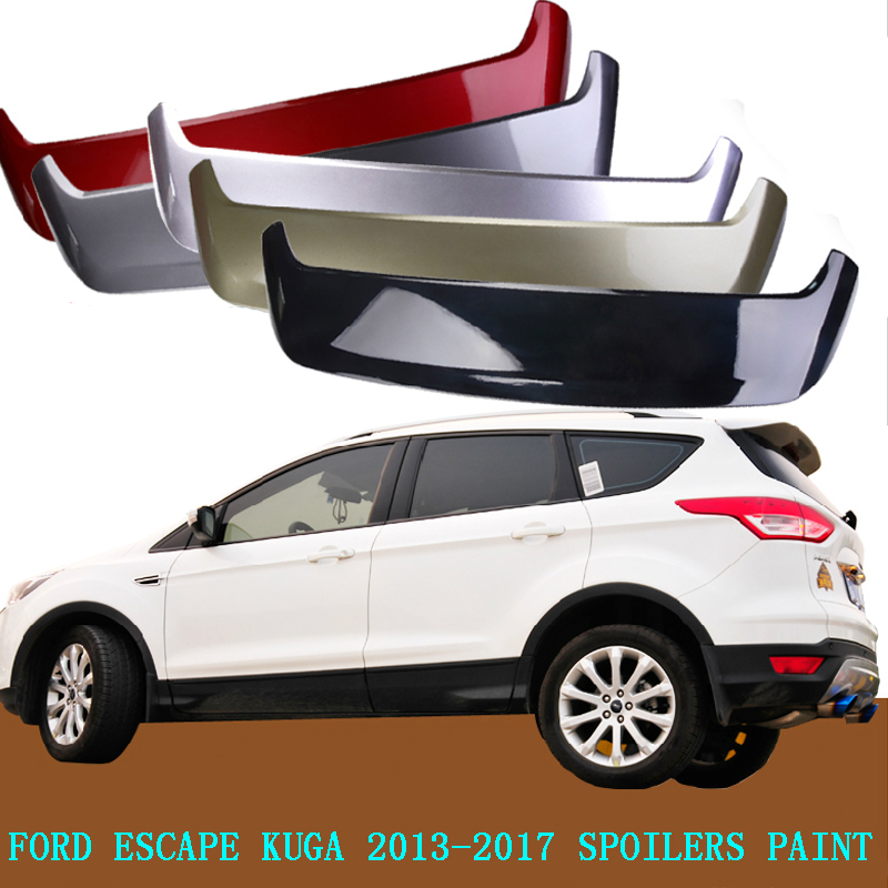 for ford escape kuga 2013 2017 rear wing spoiler trunk boot wings spoilers paint abs 3m paste. Black Bedroom Furniture Sets. Home Design Ideas