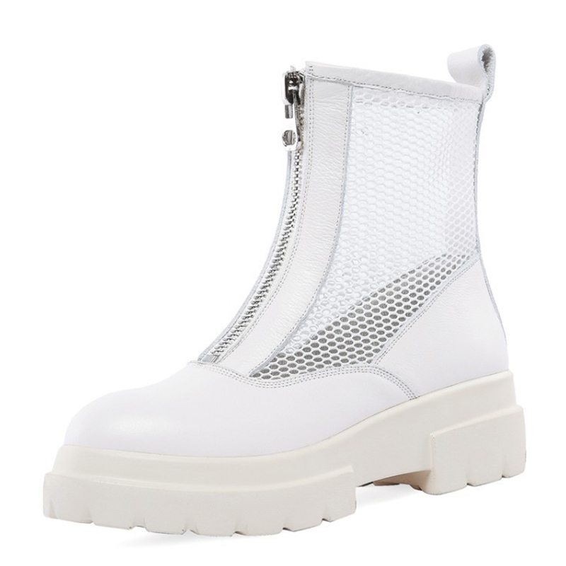 De White 2019 Vent Black Cuir Bottes Été Nouvelle Fraîches Feminino Maille Britannique Martin beige En Femelle Femmes Marée Chaussures Printemps Tenis Creux f6wqdS1