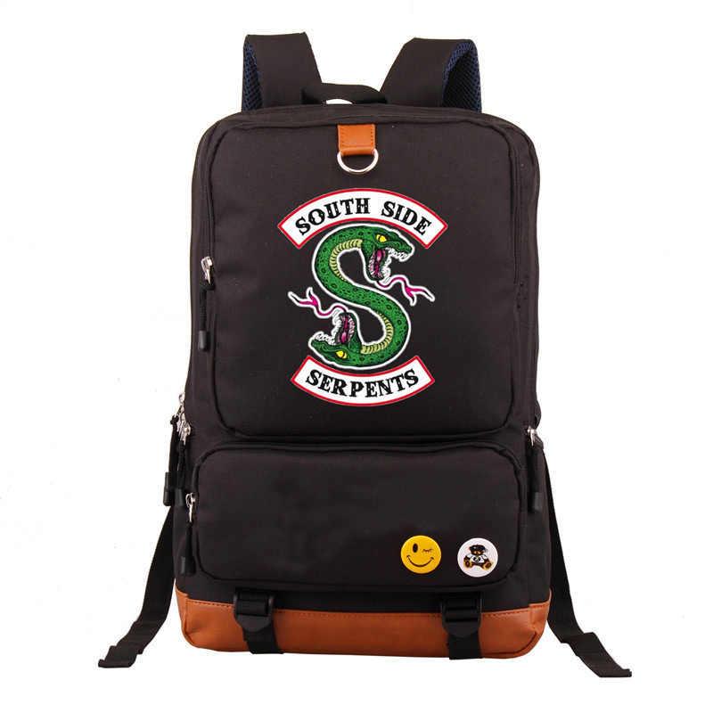 Newest Riverdale South Side Serpents Backpack Men Women Casual Laptop Bags Shoulder Travel School Bag Bookbag For Teenagers