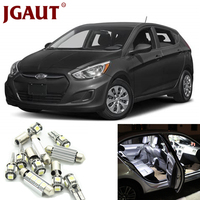 JGAUT For 2006 2011 Hyundai Accent White Car LED Light Bulbs Interior Package Kit Map Dome