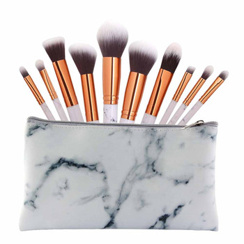 New Fashion Marble Makeup Brush Sets with Cosmetic Bag 10PCS Makeup Brushes Concealer Eyeshadow Brush Set Tool Pincel Maquiagem Eye Shadow Applicator
