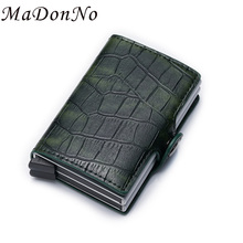 Anti Thief Rfid id Card Holder Bank Business Credit Card Holder Crocodile Passes Leather Smart Wallet for Credit Cards Pocket 2019 new card holder new metal id credit card holder anti rfid wallet business card holder wallet for credit cards case