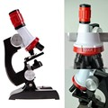 Kids Child Microscope Kit Lab LED 100X-1200X Home School Educational Toy Gift Biological Microscope hot