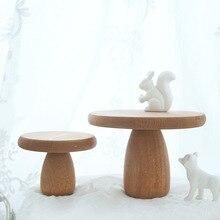 Soporte de pastel de setas Sweetgo, herramientas de decoración de tartas nórdicas clásicas, accesorios de fotografía de comida, mesa de postre artesanal de madera