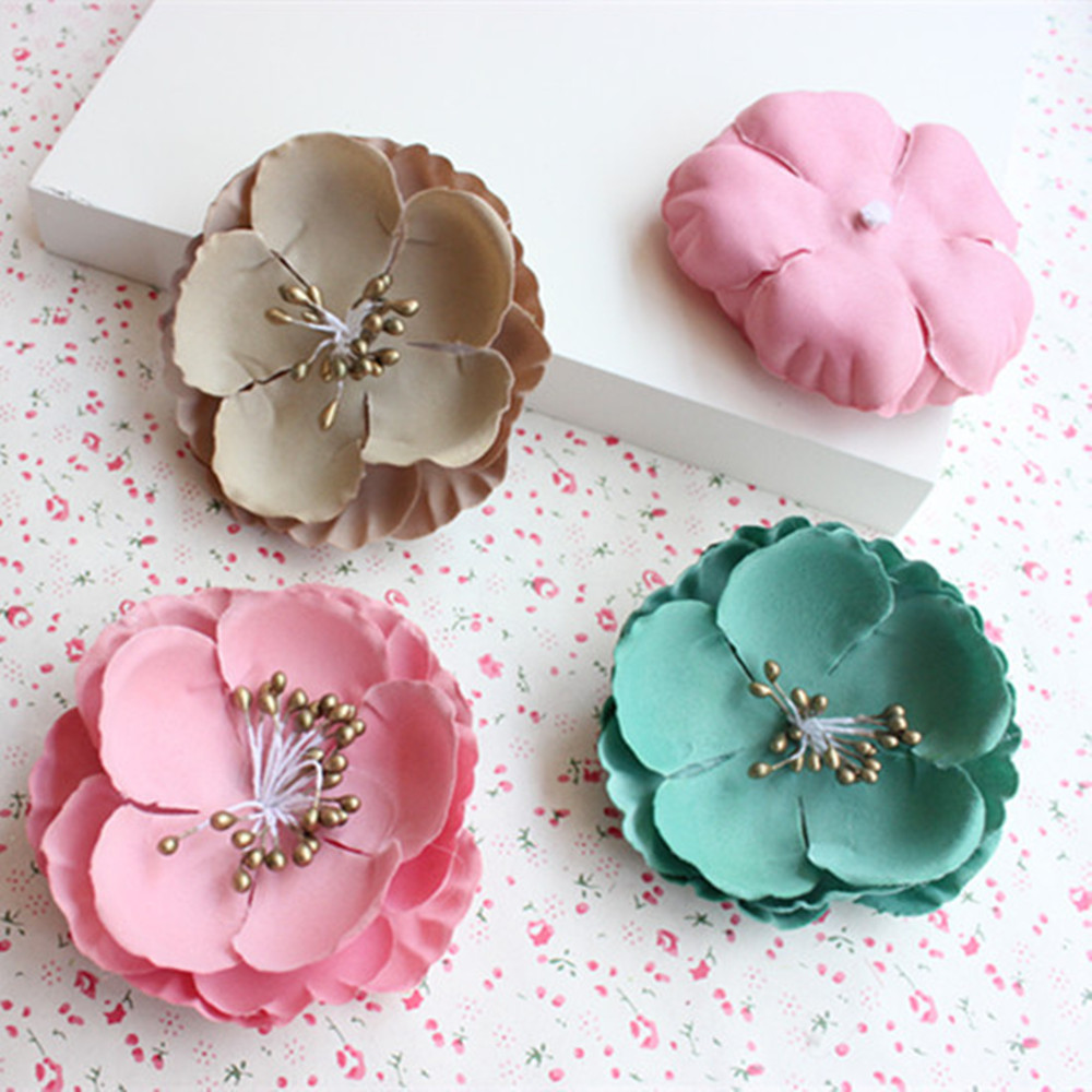 Flower heads for crafts - 5 Pcs Simulation Berries Tea Mei Flower Heads Craft Platform Shoes Material Wedding Accessories Hat Decorated Flower