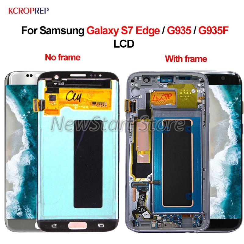 """サムスンギャラクシー S7 エッジ G935 Lcd ディスプレイタッチスクリーンデジタイザアセンブリ 5.5 """"100% テストサムスン S7 エッジ g935F 液晶  グループ上の 携帯電話 & 電気通信 からの 携帯電話用液晶ディスプレイ の中 1"""
