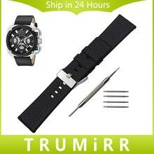 Top couche Véritable Bracelet En Cuir 1:1 que L'original pour Diesel DZ hommes Femmes Montre Bracelet Bande Bracelet 20mm 24mm 26mm 28mm