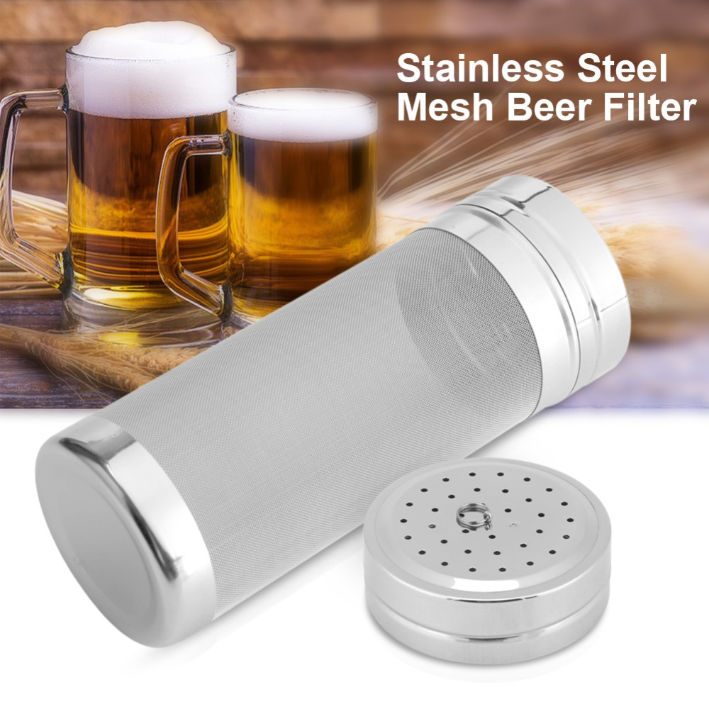 7x18/ 7x29cm 300 Micron Stainless Steel Hop Filter Homebrew Mesh Beer Filter Strainer Dry Hopper For Home Brew Spider Filter 6