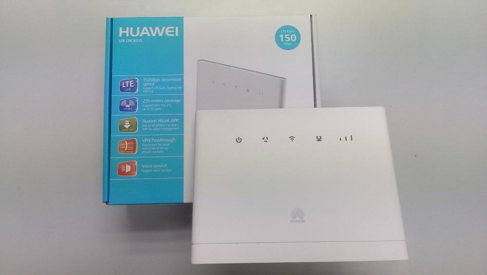 Huawei Unlocked B315 4G 3g B315s 607 Mobile 4g WiFi Router 4g wifi dongle cpe Hotspot VOIP CPE Router pk b310 b593 e5172 b890