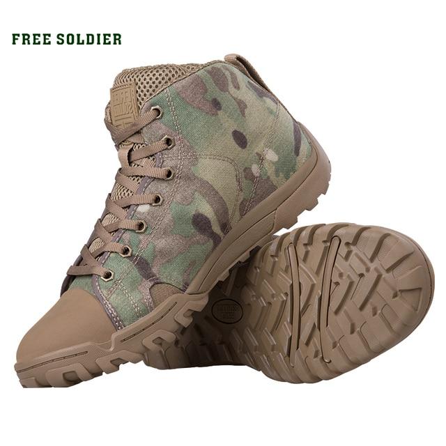 무료 군인 야외 스포츠 전술 군사 남성 신발 캠핑, 하이킹 등산 신발 경량 트레킹