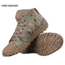 FREE SOLDIER outdoor sports tactical military mens shoes with lightweight trekking for camping ,hiking climbing shoes