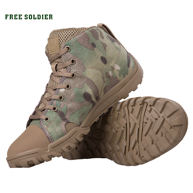 FREE SOLDIER outdoor sports tactical military men's shoes with lightweight trekking for camping ,hiking climbing shoes