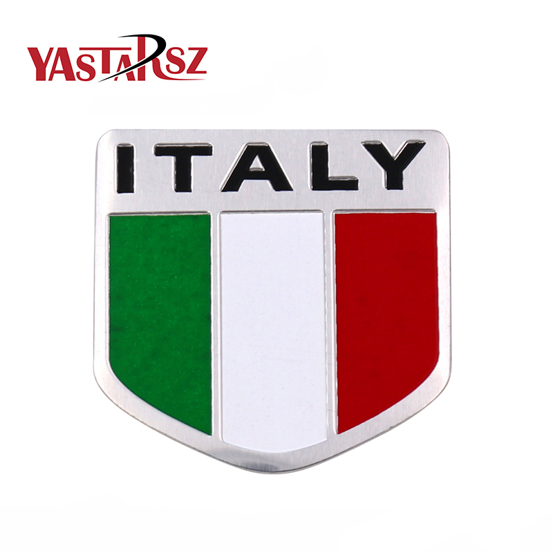 Car Motorbike Alloy Metal 3D Emblem Badge Racing Decals Sticker For ITALY Italian United ...