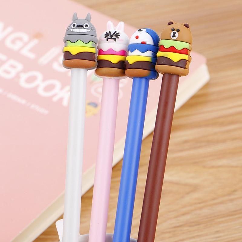 100pcs Cute Hamburg Animal Cartoon Creative Neutral Pen Students Stationery Tinker Cat s Signature Water Pen