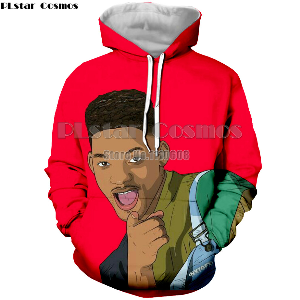 PLstar Cosmos New fashion hoodies arrival The Fresh Prince of Bel Air 3D hoody sweatshirt Will Smith sportswear tops hoodies TOP