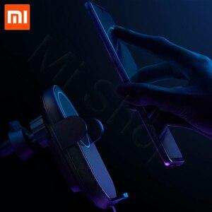 Image 4 - En Stock Xiaomi chargeur de voiture sans fil 20W Max électrique Auto pincement 2.5D anneau de verre Lit pour Mi9 20W chargeur rapide intelligent