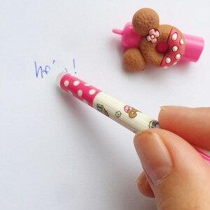Image 4 - 30 pz/lotto penna Del Fumetto Orso biscotti 0.5 millimetri di colore Blu Cancellabile penne a inchiostro gel Cancelleria articolo forniture Scolastiche Materiale escolar f440