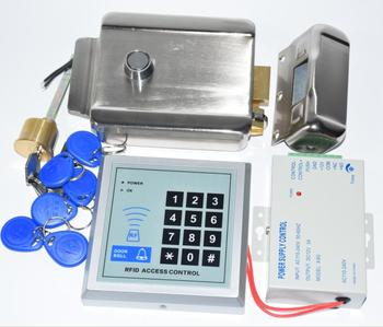 Rfid Gate Door lock Access Control System Kit Set + Electric Control Door Lock + Rfid Keypad Code+5pcs tags+5 pcs pvc cards