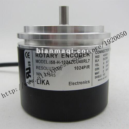 Hot New I58 H 1024ZCU48RL7 LIKA 1024 Line Rotary Encoder Solid Shaft 8mm