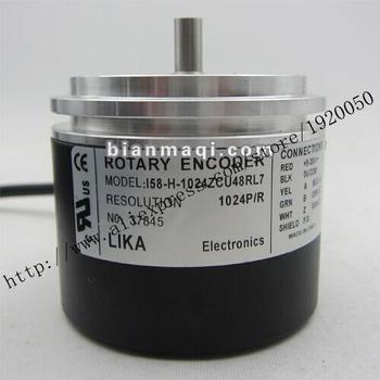 Hot  I58-H-1024ZCU48RL7  LIKA 1024 line rotary encoder solid shaft 8mm