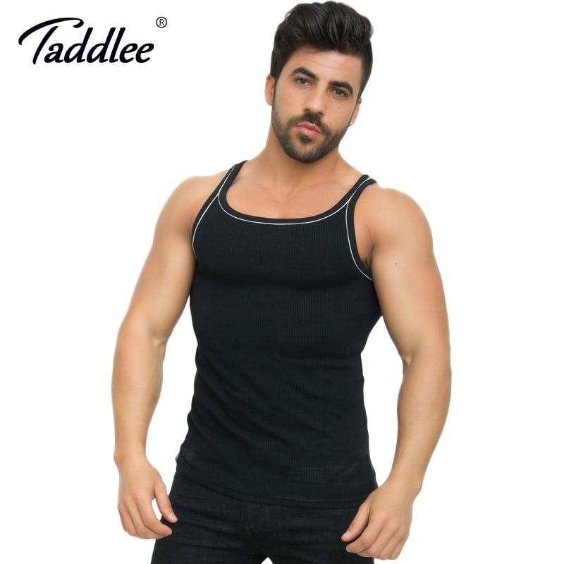 Taddlee Brand Men   Tank     Top   Modal Stretch Soft Black Golds Shirts Sleeveless Bodybuilding Stringer Fitness Singlet GASP Muscle