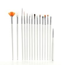 15 Pcs/lot Quality Professional Nail Brushes Set Tools