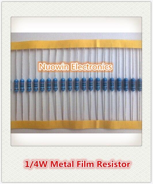 100pcs 2.2k ohm 1/4W 2.2k Metal Film Resistor 2.2kohm 0.25W 1% ROHS