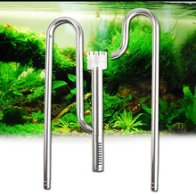 Aquarium Fish Tank Stainless Steel ADA Style Inflow Outflow Lily Pipe with Surface Skimmer