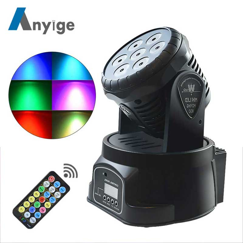 ANYIGE RGB LED Stage Light Moving Head Beam Party Light DMX-512 Led Dj Xmas Christmas Sound Active DMX Disco Light new type dmx 512 132w beam 2r moving head light professional stage