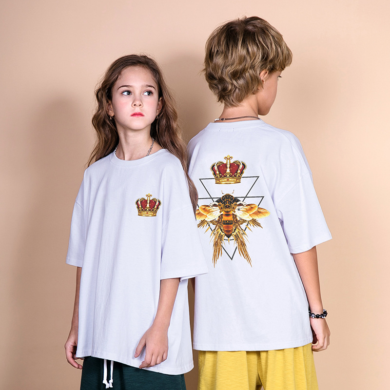 Costume Tshirts Boys Tops Printed Girls Toddler Casual Children Summer New Fashion Streetwear