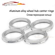 4 шт. ступица из алюминиевого сплава Centric кольца автомобиля внутренний диаметр колеса центр воротник 66,6-57,1 мм для AUDI