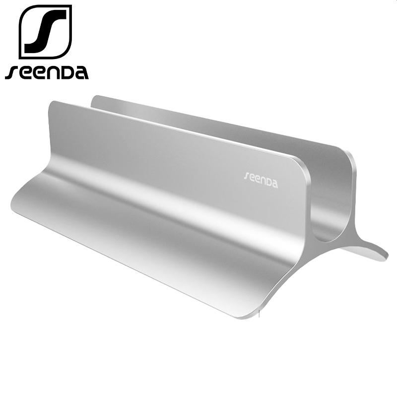 "SeenDa Vertical Laptop Stand Aluminium for MacBook Pro Air 11-15"" Portable Tablet Holder Bracket for Laptop Notebook Stand Desk"