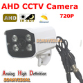 High definition AHD Camera Waterproof 720P HD Color Image With IRCUT Night Vision 1.0MP AHD CCTV Security System Surveillance
