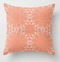 Custom Pillow case Peach Color Burst (two sides) for 12x12 14x14 16x16 18x18 20x20 24x24 inch free shipping