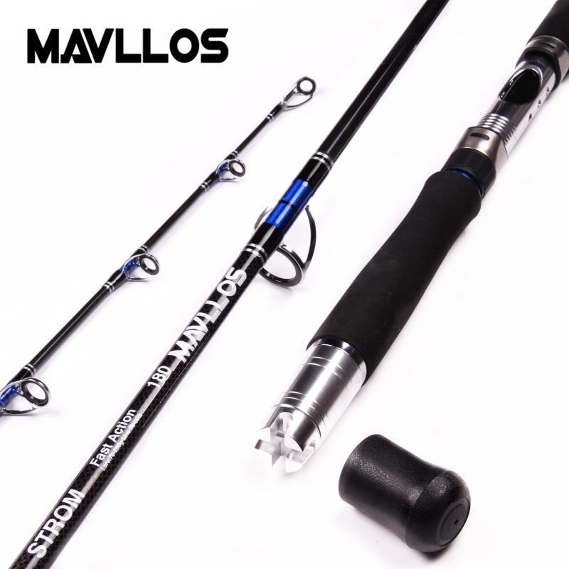 Mavllos Peso Isca 70-250g 3 Seção Barco Jigging Pesca Vara De Ação Rápida De Fibra De Carbono de Pesca de Água Salgada Fiação haste Pólo
