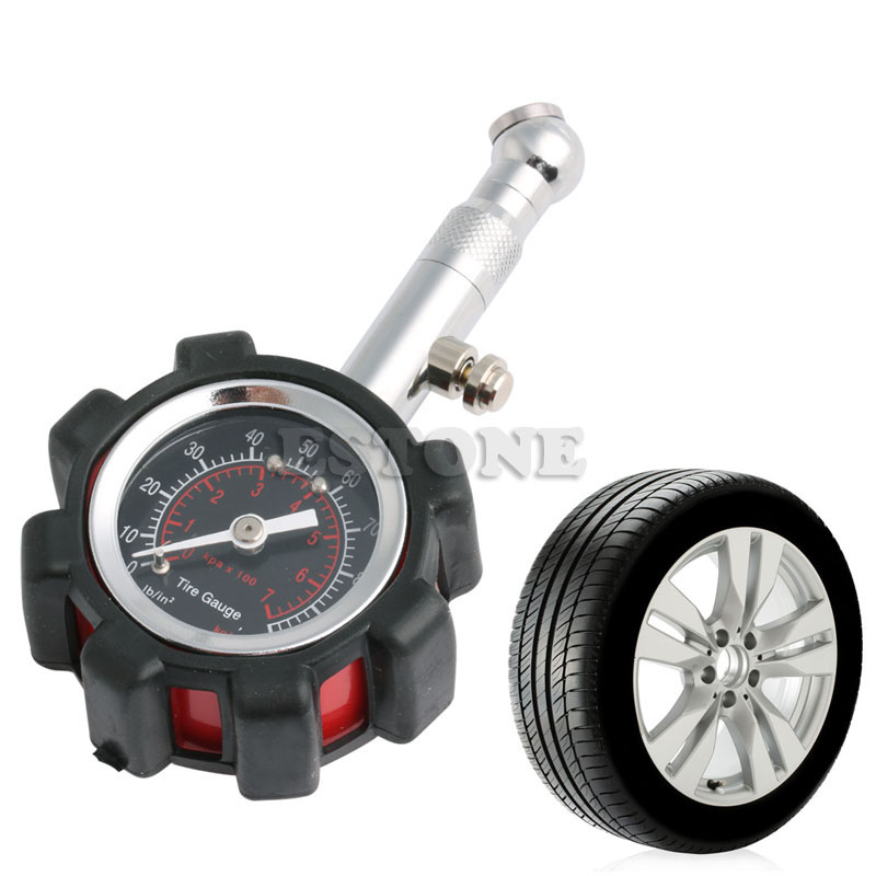 Image 2 - Motor Car Truck Bike Tyre Tire 0 100 PSI Air Pressure Gauge Dial Meter Tester