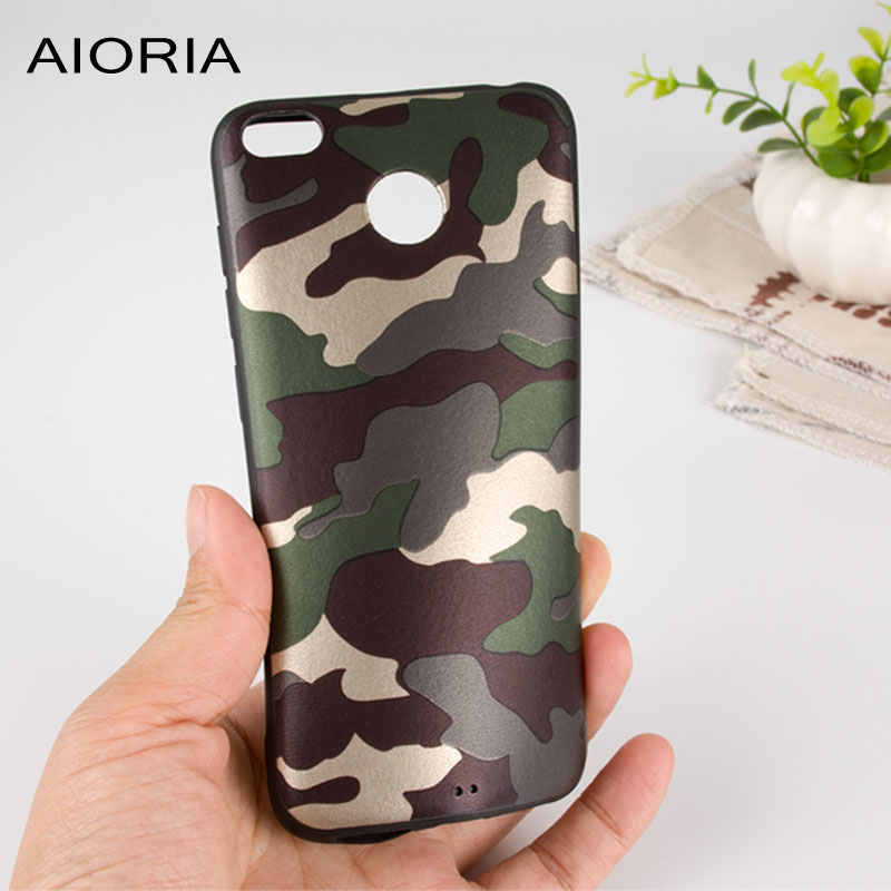 AIORIA Camouflage case for Xiaomi Redmi 4X 5.0 inch soft TPU with pattern skin 2in1 material covers coque for xiaomi redmi 4X