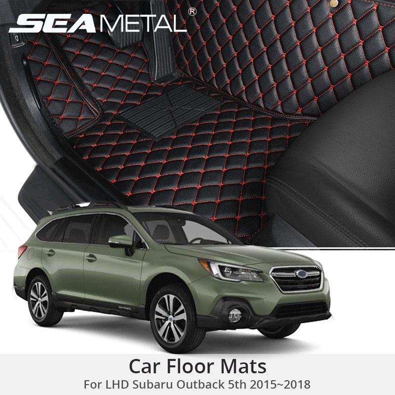 For LHD Subaru Outback 5th Gen 2018 2017 2016 2015 Car Floor Mats Custom Rugs Auto